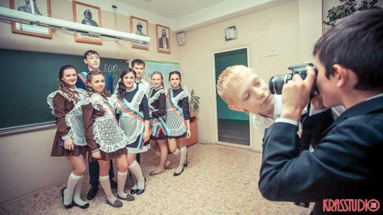 Фотосъёмка последнего звонка в школе Красноряск