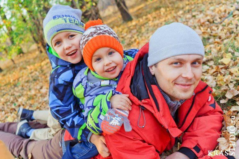 Осенняя семейная фотосессия в Красноярске