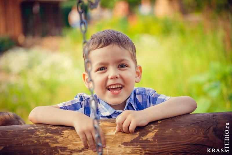 Детская фотосессия в парке Красноярска