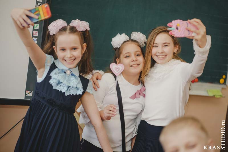 Фотосессия в школе на перемене
