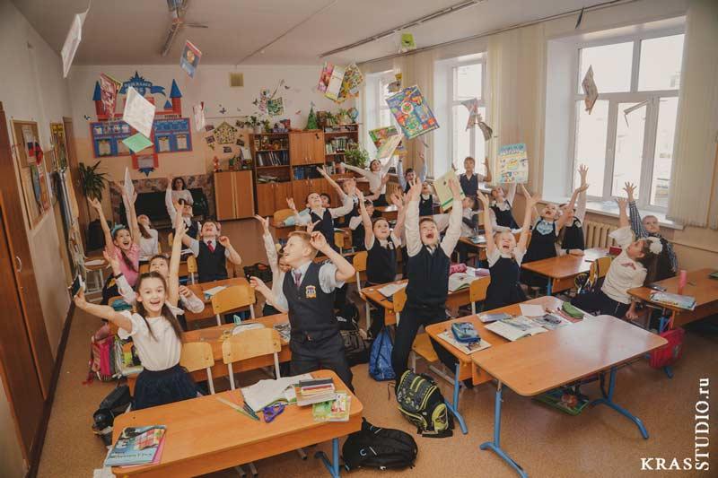 Школьная фотография в классе