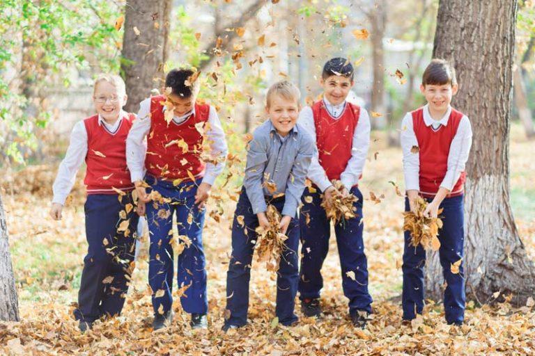 Осенняя фотосессия в школе Красноярска